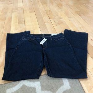 Ann Taylor curvy boot cut jeans, dark wash, NWT